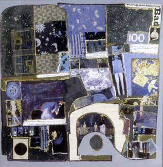 "Midnight & Winter, mixed media on canvas 36x36"""