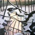 "Mika's Run, acrylic on canvas30x24"""