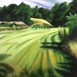"Rampant Summer, acrylic on canvas30x24"""