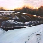 """Silt, acrylic on canvas24x30"""""""